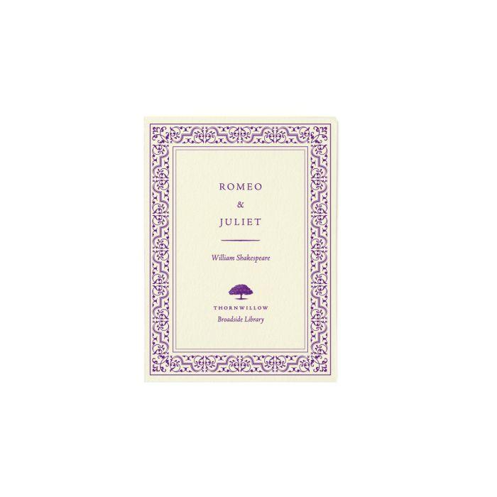 Broadside - Romeo & Juliet by William Shakespeare